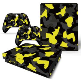 Army Camo Geel Zwart - Xbox One X Console Skins