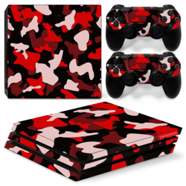 Army Camo Rood Zwart - PS4 Pro Console Skins