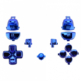 Blue Chrome (GEN 4, 5) - PS4 Controller Buttons