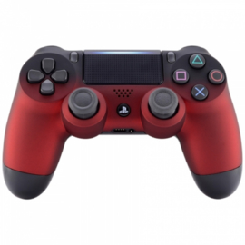Gradient Soft Touch Zwart / Rood - Custom PS4 Controllers V2
