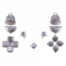 Silver Matte (GEN 4, 5) - PS4 Controller Buttons