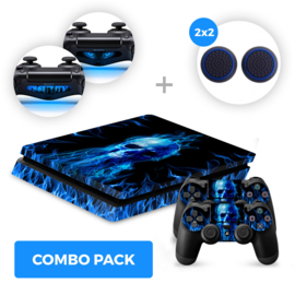 Fire Skull Skins Bundel - PS4 Slim Combo Packs