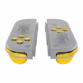 NS Buttons - Goud Chrome - Joy Con Controller Buttons
