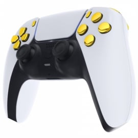 PS5 Controller Buttons - Goud Chrome - 11 in 1 Button Set