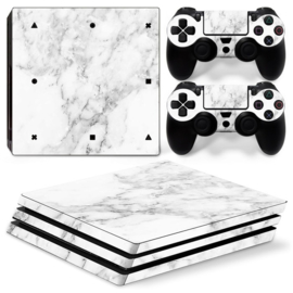 Marmer Wit - PS4 Pro Console Skins