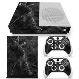 Marmer Zwart - Xbox One S Console Skins