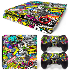 Stickerbomb - PS4 Slim Console Skins