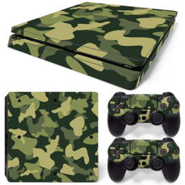 Army Camo Green Black - PS4 Slim Console Skins
