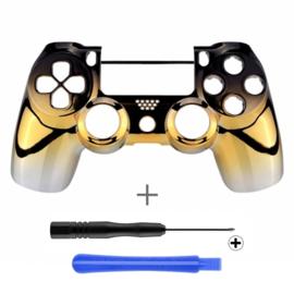 PS4 Controller Behuizing Shell - Chrome Zwart Goud Zilver (GEN 4, 5) - Front Shell