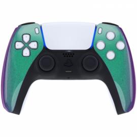 Sony PS5 DualSense Draadloze Controller - Groen / Paars Metallic Front Custom