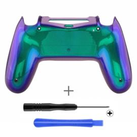Metallic Chameleon Green / Purple (GEN 4, 5) - PS4 Controller Back Shells