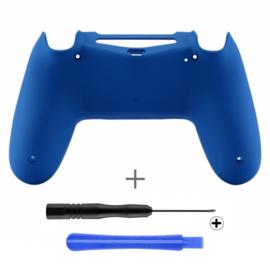 Soft Touch Blauw (GEN 4, 5) - PS4 Controller Back Shells