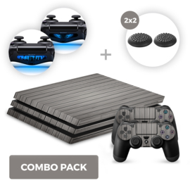 Wood Grey Skins Bundel - PS4 Pro Combo Packs