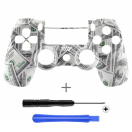 PS4 Controller Behuizing Shell - Dollars (GEN 4, 5) - Front Shell