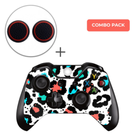 Luipaard Print Multi Skins Grips Bundel - Xbox One Controller Combo Packs
