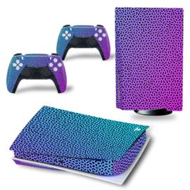PS5 Console Skins - Cool Gradient Blue / Purple
