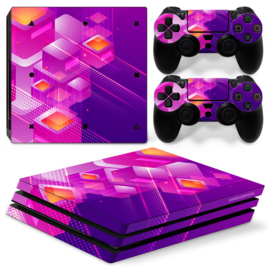 Shapes / Pink - PS4 Pro Console Skins