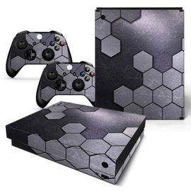 Steel Silver - Xbox One X Console Skins