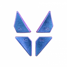 Metallic Chameleon Blauw / Paars - PS4 eSports Back Buttons