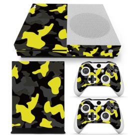 Army Camo Geel Zwart - Xbox One S Console Skins