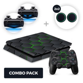 Hex Lime Skins Bundel - PS4 Slim Combo Packs