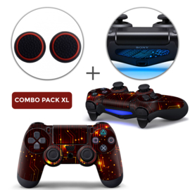 CPU / Red Skins Grips XL Bundle - PS4 Controller Skins