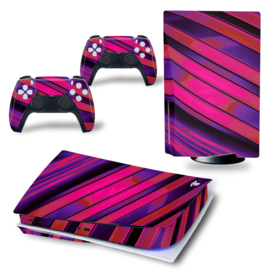 PS5 Console Skins - Metal Twirl Purple / Red
