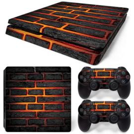 Lava Brick - PS4 Slim Console Skins