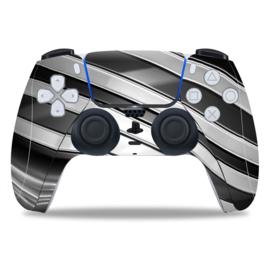 PS5 Controller Skins - Metal Twirl Wit / Zwart