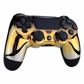 PS4 Controller Behuizing Shell - Zwart Goud Zilver Chrome (GEN 4, 5) - Front Shell