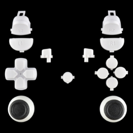 White (GEN 4, 5) - PS4 Controller Buttons