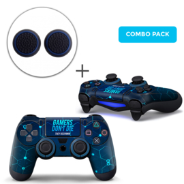 Gamers Skins Grips Bundle - PS4 Controller Combo Packs