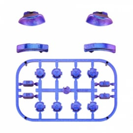 Metallic Chameleon Blauw / Paars - Nintendo Switch Controller Buttons