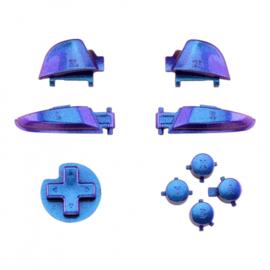 NS Buttons - Blauw / Paars Metallic - Pro Controller Buttons