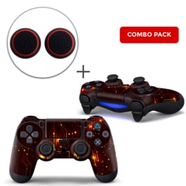 CPU / Red Skins Grips Bundle - PS4 Controller Skins