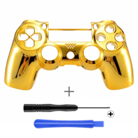 PS4 Controller Behuizing Shell - Goud Chrome (GEN 4, 5) - Front Shell
