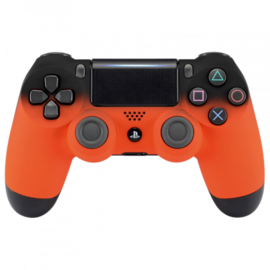Gradient Soft Touch Zwart / Oranje - Custom PS4 Controllers V2
