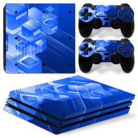 Shapes / Blue - PS4 Pro Console Skins