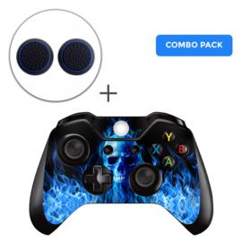 Fire Skull Skins Grips Bundel - Xbox One Controller Combo Packs