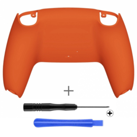 PS5 Controller Behuizing Shell - Oranje Soft Touch - Back Shell