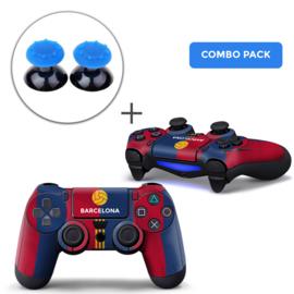 Barcelona Skins Blauw Grips Bundel - PS4 Controller Skins