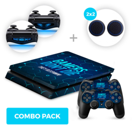 Gamers Skins Bundel - PS4 Slim Combo Packs