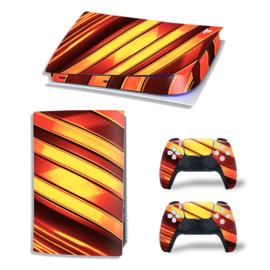PS5 Console Skins - Metal Twirl Oranje / Rood