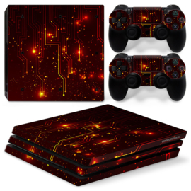 CPU / Red - PS4 Pro Console Skins