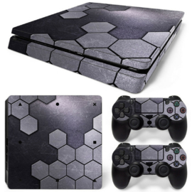 Steel Silver - PS4 Slim Console Skins