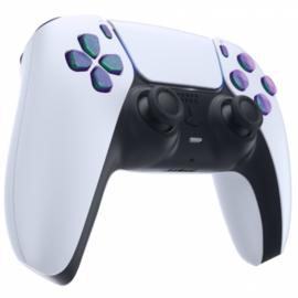 PS5 Controller Buttons - Metallic Chameleon Groen / Paars - 11 in 1 Button Set