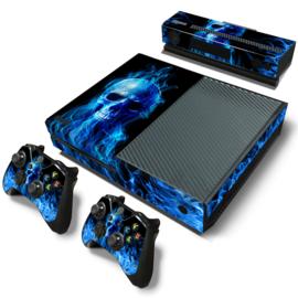 Blue Skull Premium - Xbox One Console Skins