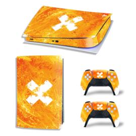 PS5 Console Skins - Liquid Grunge Geel / Oranje
