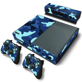 Army Camo Blauw Zwart - Xbox One Console Skins