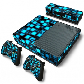 Blue Boxes - Xbox One Console Skins